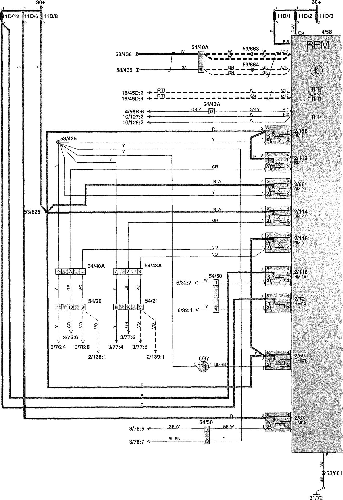 Volvo V70 Schematics Schematic Diagrams Electrical Diagram Towbar Wiring Station Wagon