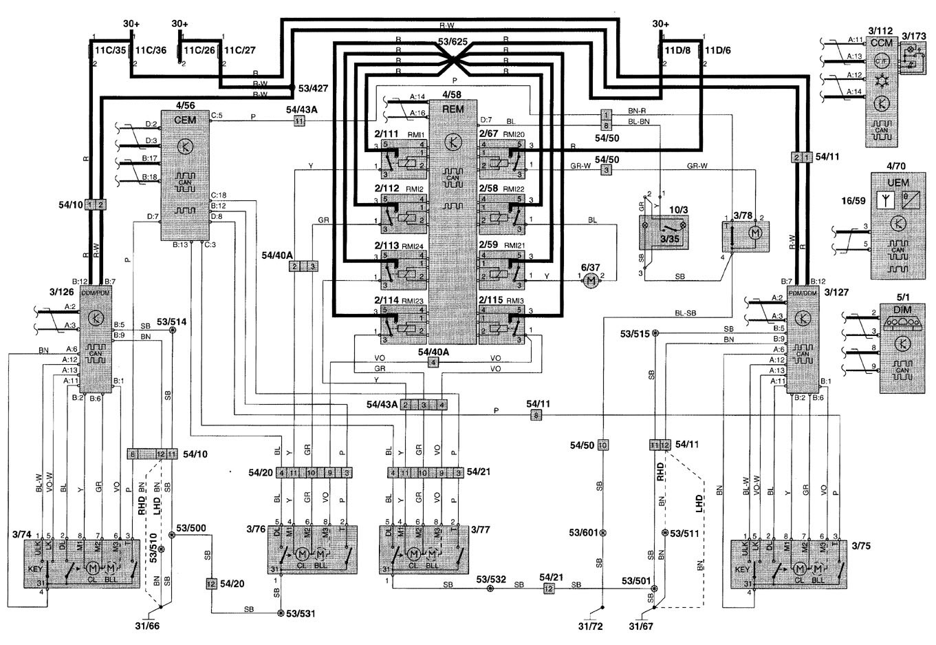 Volvo Wiring Diagrams 850