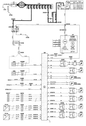 Volvo S70 (1999  2000)  wiring diagrams  air bags