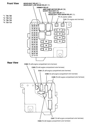 1998 Acura Cl Engine Bay Diagram | Wiring Library