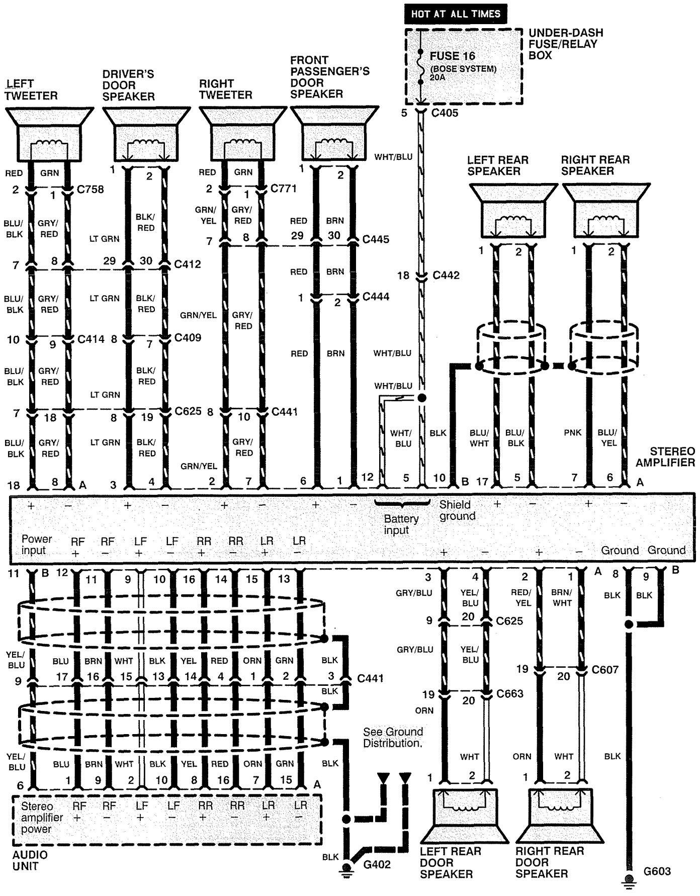 Acura rl wiring diagram audio part 2