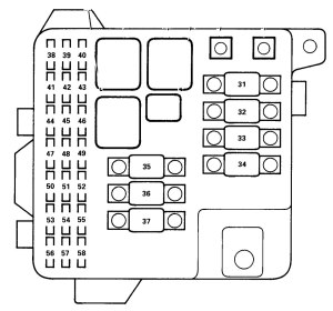 Acura RL (2000  2002)  wiring diagrams  fuse panel