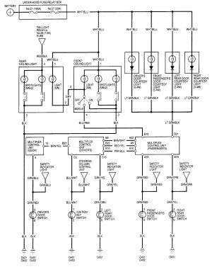 2001 Acura Rl Wiring Diagrams  Wiring Data