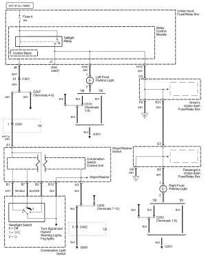 Acura RL (2005)  wiring diagrams  parking lamp