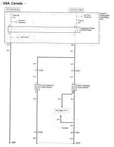 Acura RL (2009  2010)  wiring diagrams  powerauxiliary
