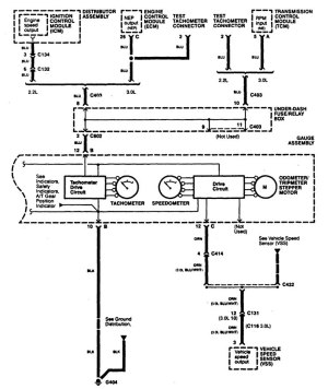 Acura CL (1997)  wiring diagrams  instrumentation