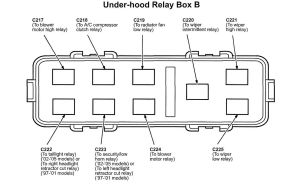 Acura NSX (2005)  wiring diagrams  fuse panel  CARKNOWLEDGE