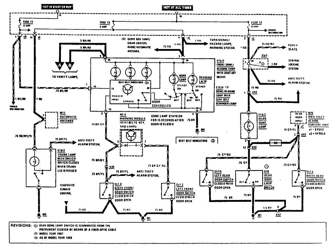 Mercedes benz 190e 1990 1991 wiring diagrams courtesy l s