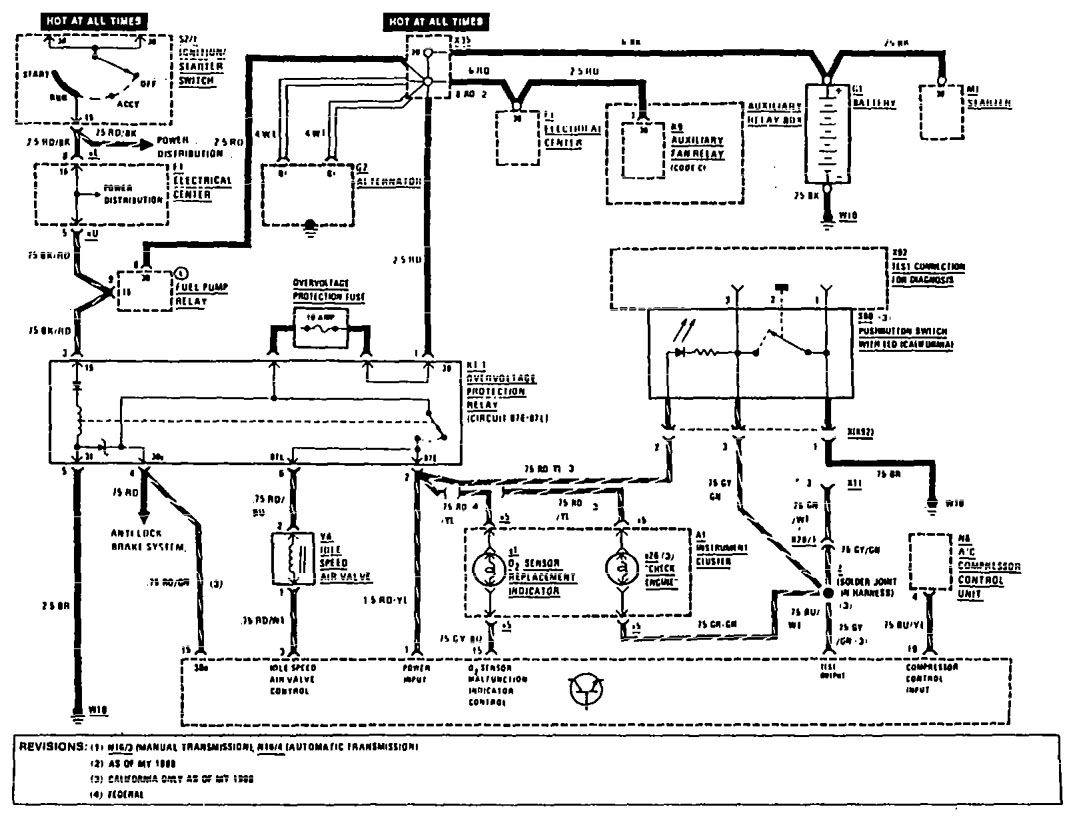 Benz 500sl Mercedes Electrical Diagram Wiring Diagram And Schematics