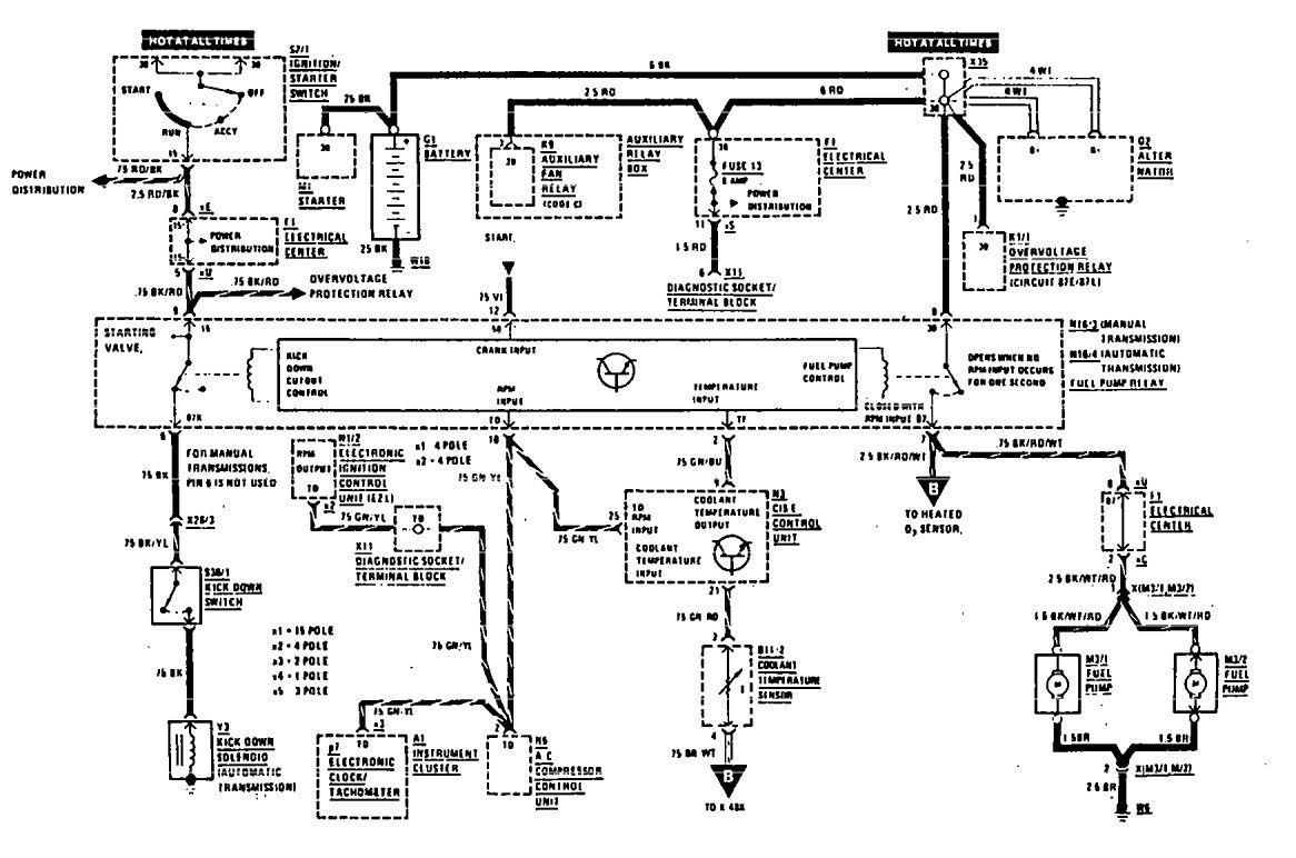 mercedes benz 190e wiring diagram fuel controls v3 1 1990 mercedes benz 500sel 2018