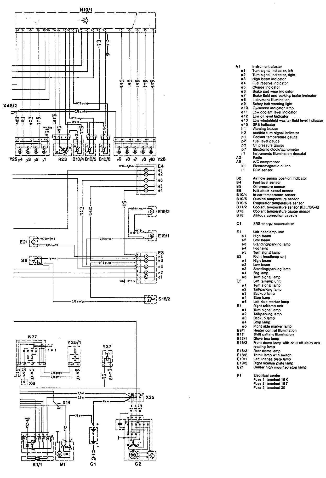 Mercedes Benz Lights Wiring Diagram