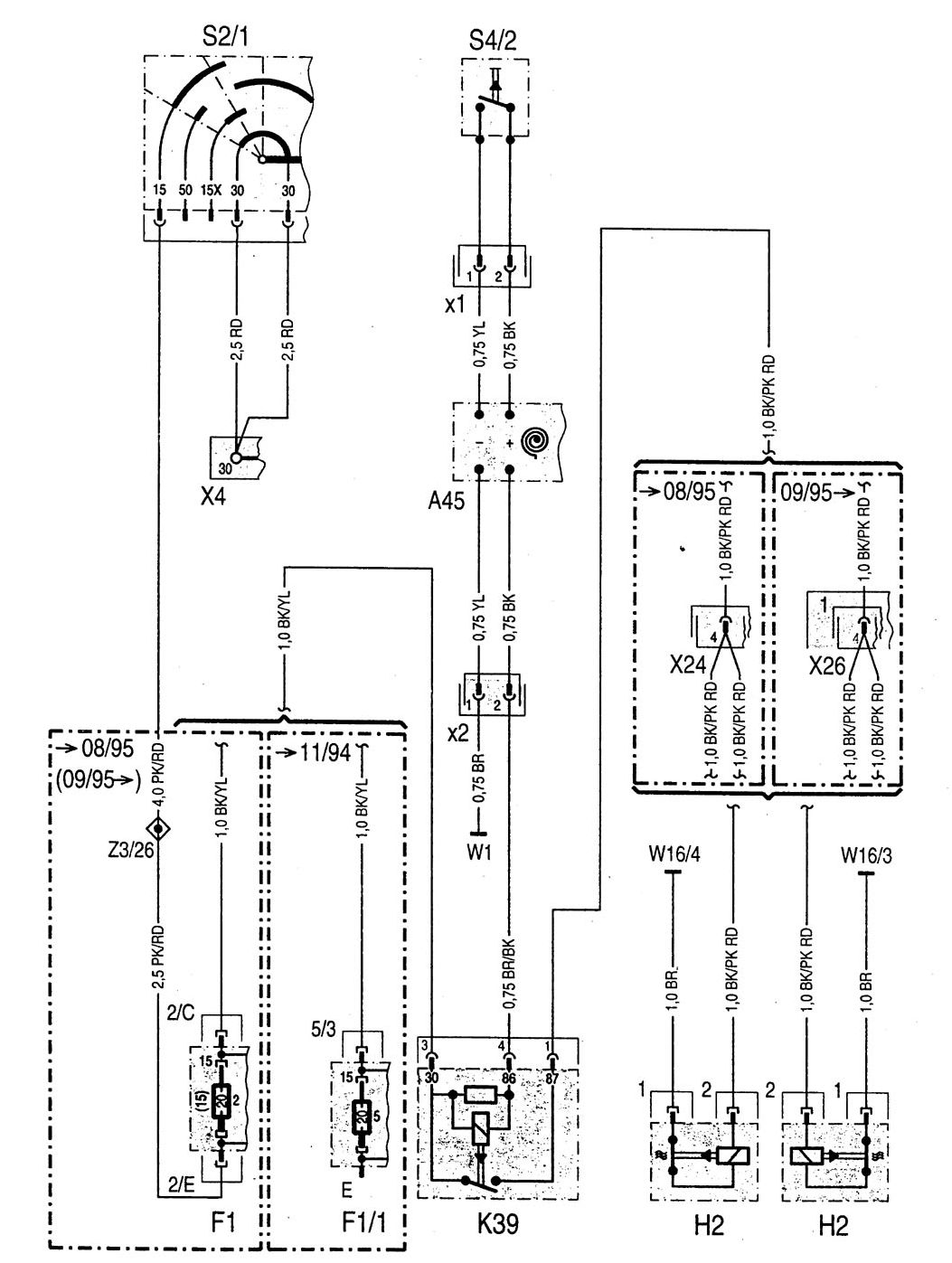 Mercedes Benz W202 Wiring Diagrams