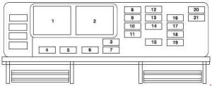 Ford Freestar (2003 – 2007) – fuse box diagram  CARKNOWLEDGE