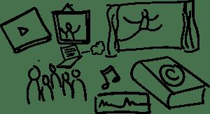 Image de la loi sur le droit d'auteur, public, art, danse, musique, littérature, enregistrement sonore