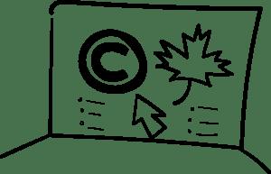 Image représentant le site web de la Commission du droit d'auteur du Canada