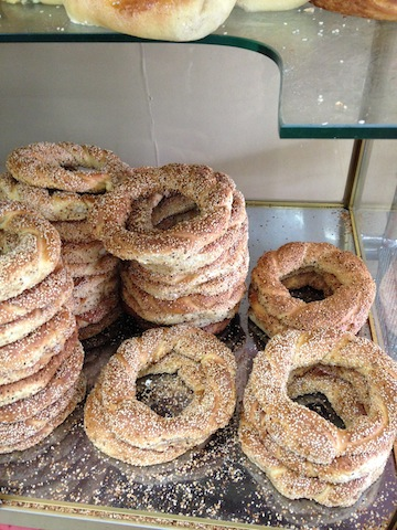 Koulóuria (sesame bread rings) from Gima Supermarket.