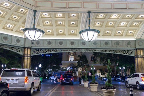 Entrance to the Bellagio Hotel and Casino in Las Vegas, Nevada - Photographer Carla Durham- 50 Cities and counting