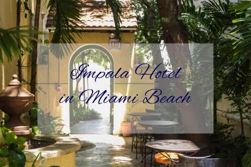 Courtyard entrance to Impala Hotel in South Beach Miami Beach, Florida - Photographer Carla Durham - 50 Cities and counting