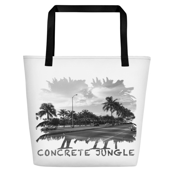 Concrete Jungle - Miami Beach, Florida - Carla Durham, travel photographer - Carla in the City - Carla Durham - large white tote bag