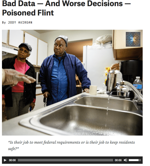 Episode about the Flint water crisis.