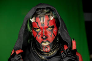 Dart Maul facepaint using Wolfe FX and mehron