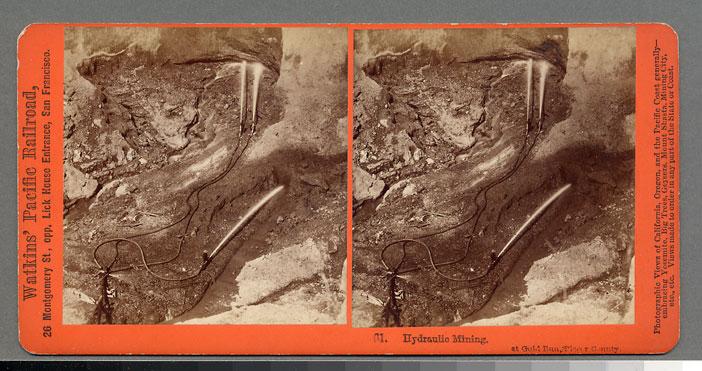 Watkins #61 - Hydraulic Mining at Gold Run. Placer County