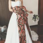 2wayドレス オーダードレス 和テイスト 着物生地 想い出のドレス 生地持ち込み
