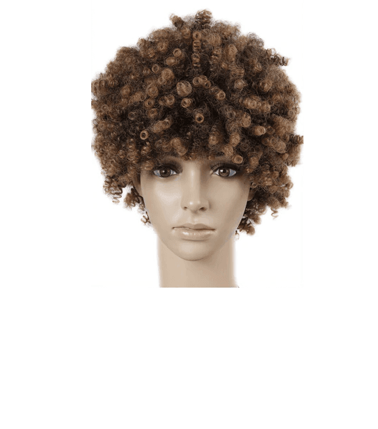 Short Kinky Curly Fro Wig Front