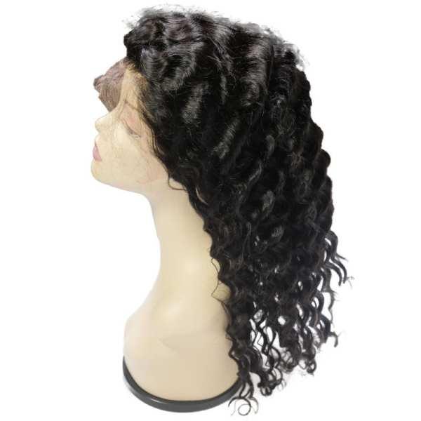 Brazilian Deep Wave Front Lace Wig (side)