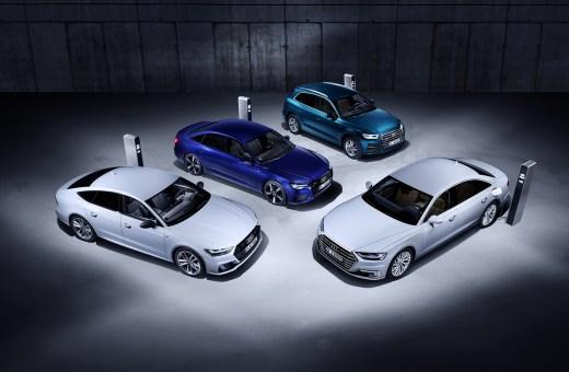 Audi løfter sløret for 4 nye plug-in hybrid-modeller