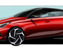 Stregtegninger af ny Hyundai i20