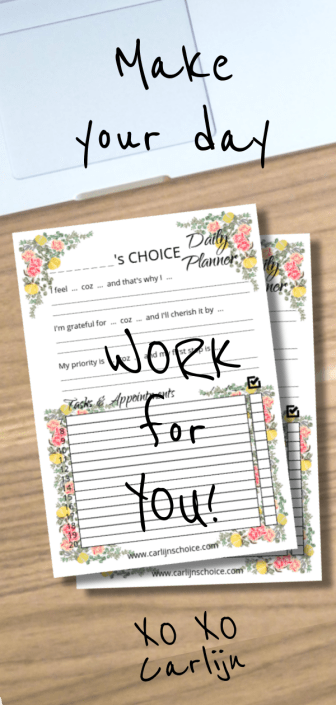 Your Choice Planner daily planner printable