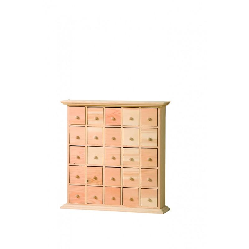meuble en bois 25 tiroirs