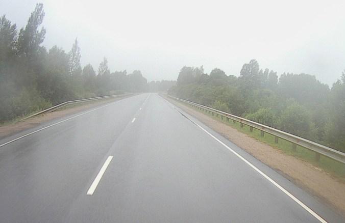 Miserable weather on road towards Tallinn!