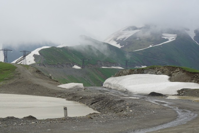 Pretty cold with lots of snow at the top of the pass at 3300m.