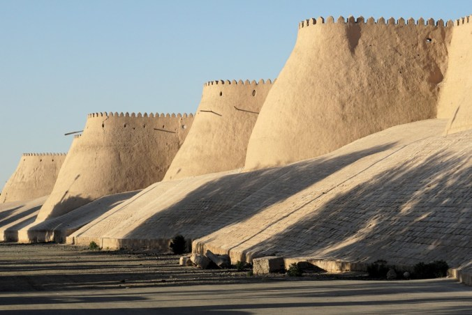 Protective wall surrounding the Khiva historical area.