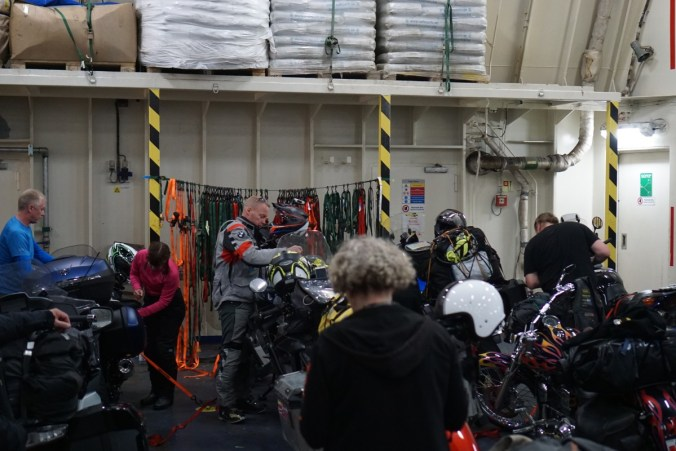 On board Stena Germanica, quite a few bikes on the ferry from Gothenburg to Kiel.