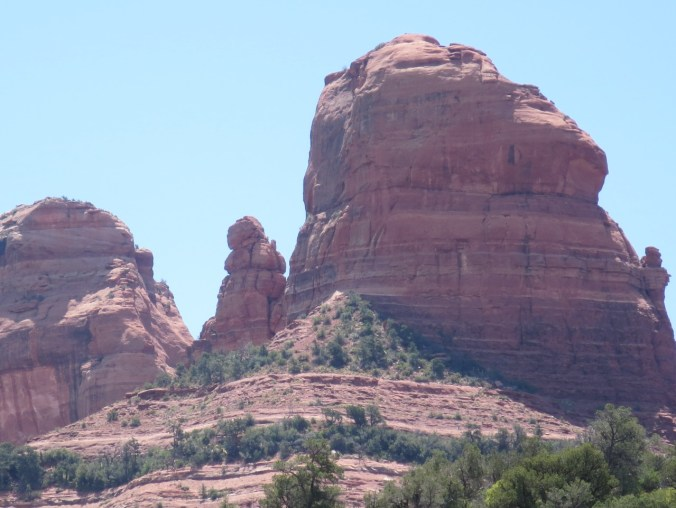 Red rock formations around Sedona.