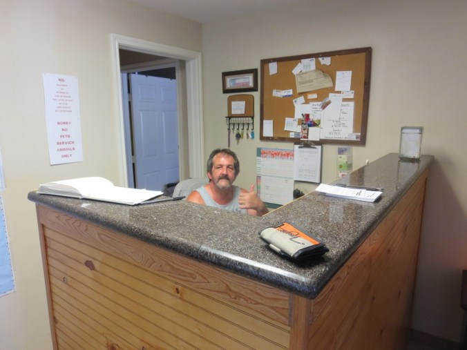 Comstock motel manager.