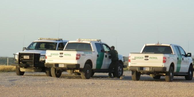 US border patrol having a morning chat.