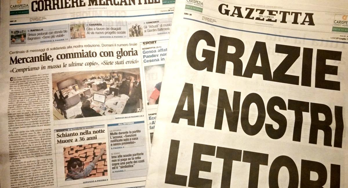 Chiude il Corriere Mercantile, un pessimo segnale per la città