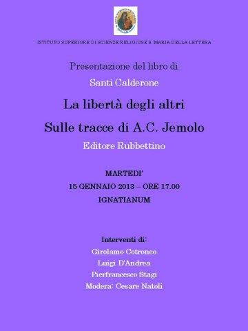 2013_01_15-IGNATIANUM-La libertà degli altri-Santi_Calderone