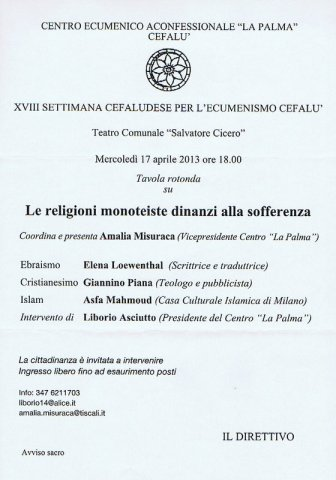 """2013_04_17-Cefalù-CEA_""""LA PALMA""""-RELIGIONI_SOFFERENZA"""