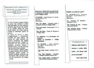 III ISTITUTO COMPRENSIVO GIOVANNI XXIII MESSINA - EDUCARE ALLA LEGALITA' - 2002