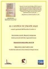 26 Aprile2016-BFMC-Cangelosi-IlCanticoDiFrateSole