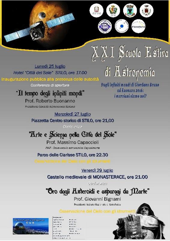 """Reggio Calabria – """"Planetarium Pythagoras"""" «Continuità e"""