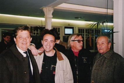 De izda a drch: Karl-Heinz Mannchen, Carlos Aguilar, Jesús Franco, y León Klimovsky