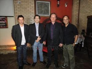 Harisson Barros (gerente de Marketing ), Heraldo Chaves (coordenador de vendas), Eder Luis Guadagnin (diretor executivo Grupo Deltaville) e Gustavo Tigre (publicitário)