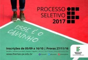 if sertão-pe inscrições processo seletivo 2017