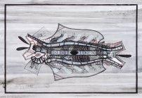S/T. Tinta, marcador y corrector sobre papel. 67 cm. x 97 cm. 2012
